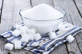Portion of white sugar — Stock Photo