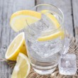Sparkling Water with Lemon — Stock Photo