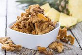 Portion of dried Pineapple — Stock Photo