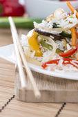 Arroz com verduras — Fotografia Stock