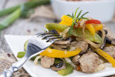 Portion of Vegetables with Chicken — Stock Photo