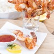 Stock Photo: Party Food (Prawn Skewers)