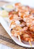 Fresh Prawn Skewers — Stock Photo
