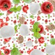Stock Photo: Antipasto background (on white)
