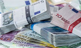 Heap of Euro Bills — Stock Photo