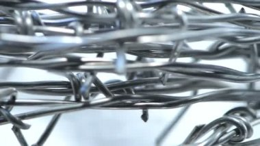 Metal barbed wire — Stock Video