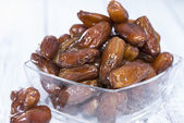 Dates in a bowl — Stock Photo