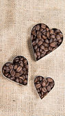 Coffee Background (with Hearts) — Stock Photo