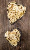 Banana Chip Hearts — Stock Photo