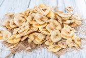 Fresh dried Banana Chips — Stock Photo