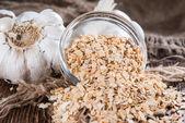 Heap of Garlic Spice — Stock Photo
