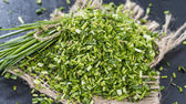 Heap of fresh cutted Chives — Stock Photo