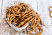 Portion of small Pretzels — Stock Photo