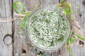 Portion of dried Tarragon — Stock Photo