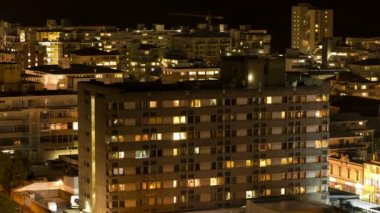Night city — Stock Video
