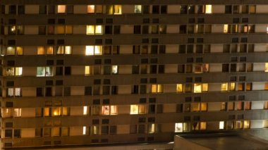 Night building — Stock Video