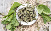 Portion of dried Mint — Foto de Stock