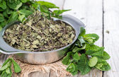 Portion of dried Mint — Stock Photo