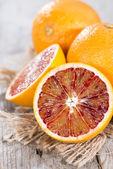 Some halved Blood Oranges — ストック写真