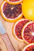 Portion of fresh Blood Orange — ストック写真