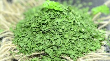 Heap of dried Parsley — Stock Video