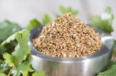 Rubbed Coriander — Stock Photo