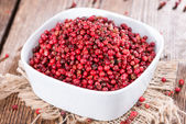 Bowl with Pink Peppercorns — Stock Photo