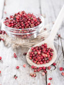 Portion of Pink Peppercorns — 图库照片