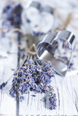 Lavender and Heart Shapes — Stock Photo
