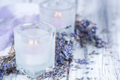 Lavender Candles — Stock Photo