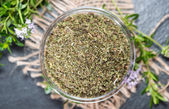 Dried Winter Savory in a bowl — Stockfoto