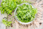 Fresh made portion of Parsley — Stock Photo
