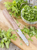 Fresh made portion of Parsley — Foto de Stock