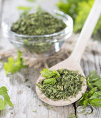 Portion of dried Parsley — Stock Photo