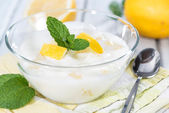 Yogur de limón casero — Foto de Stock