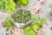 Dried Flat Leaf Parsley — Foto de Stock