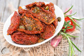 Portion of dried Tomatoes — Stock Photo