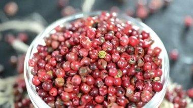 Heap of Pink Peppercorns — Stock Video
