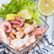 Fresh made Seafood Salad — Stock Photo