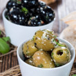 Fresh Olives (black and green) — Stock Photo #47372439
