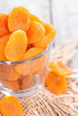 Bowl with dried Apricots — Stock Photo