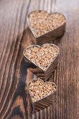 Wheat Grains (in heart shapes) — Stock Photo