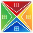Real estate houses logo — Stock Photo