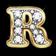 R gold and diamonds bling — 图库矢量图片 #12482574