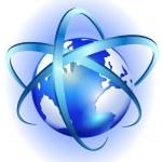 tourbillon et spinning globe — Vecteur