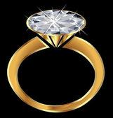 闪光的钻石订婚戒指 — 图库矢量图片