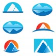 Set of Mountains logos — Stock Vector