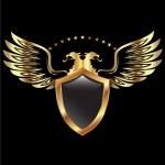 Gold Eagle shield — Stock Vector