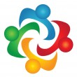 图库矢量图片: Teamwork solutions logo