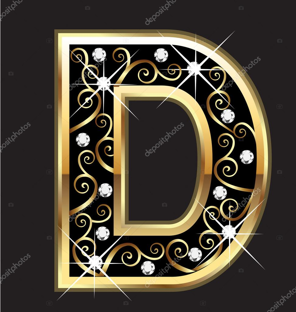 N R Name Images D gold letter with swi...